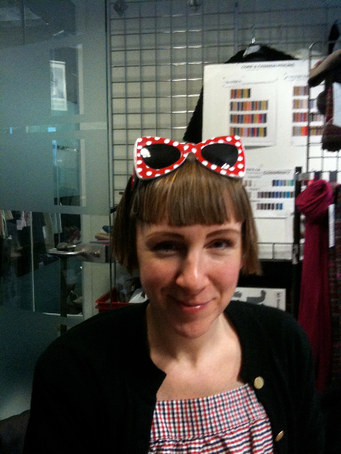 Harriet Vine in Tatty Devine for John Lewis sunglasses