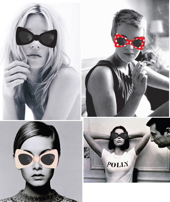 Tatty Devine moodboard for John Lewis sunglasses