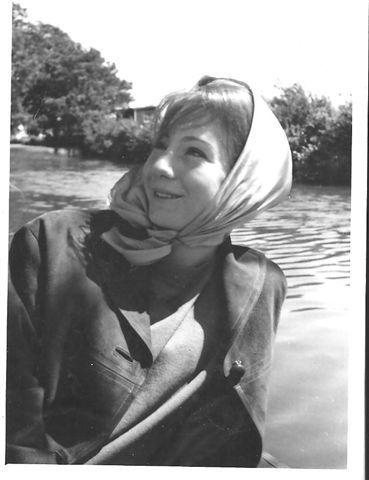 Harriet's mum in headscarf