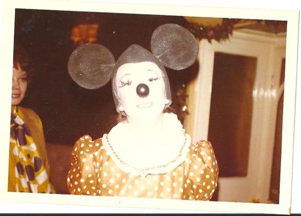 Harriet's mum in Minnie Mouse fancy dress