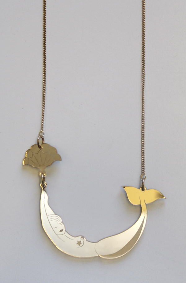 Tatty Devine mermaid necklace for Charlotte Olympia