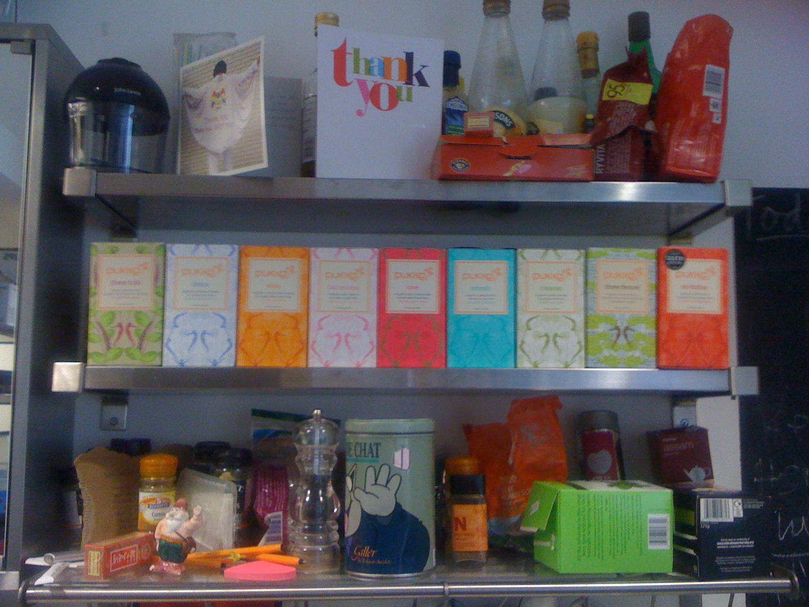 Pukka tea, Tatty Devine shelves