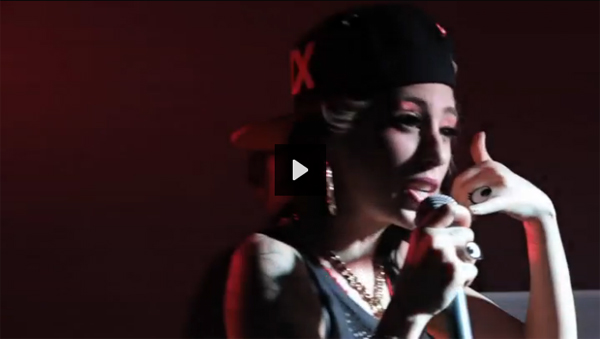 Kreayshawn in Tatty Devine Cartoon Eye Rings