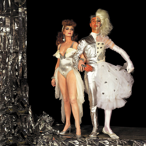 Andrew Logan & Rula Lenska Alternative Miss World 1991 by Robyn Beeche