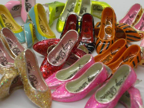 Tatty Devine silver enamel shoes