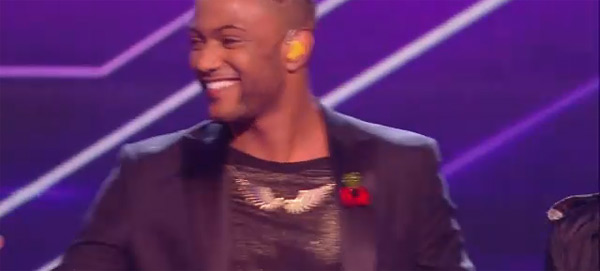 JLS's JB in Tatty Devine Pegasus Wing Necklace