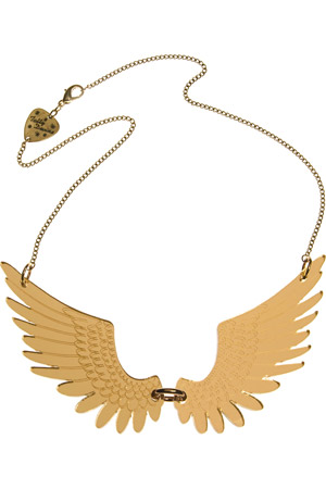 Tatty Devine Pegasus Large Necklace - gold mirror
