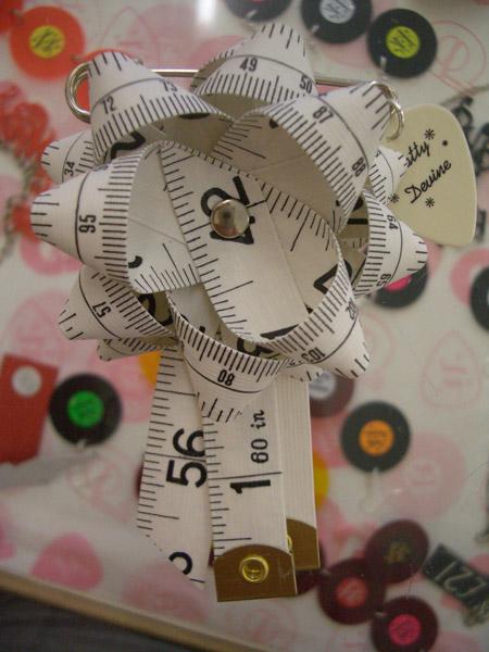 Tatty Devine Tape Measure Rosette 2003
