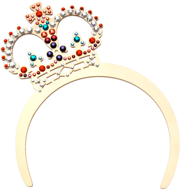 Tatty Devine tiara for the Diamond Jubilee