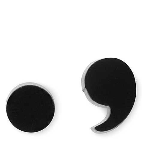 Tatty Devine full stop and comma earrings