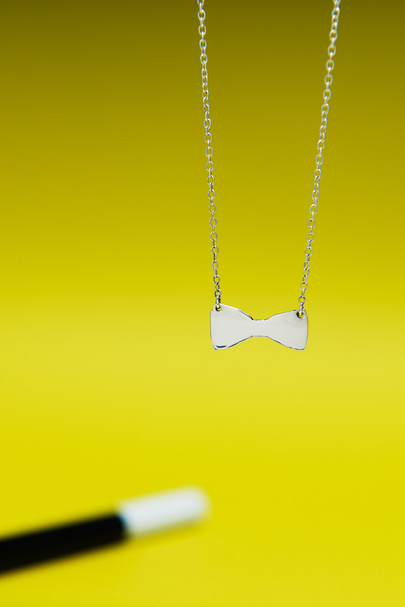 Fine Bow Tie Necklace