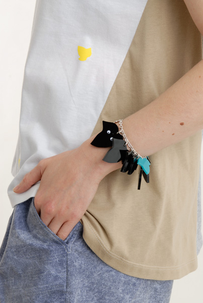 Tatty Devine for Eley Kishimoto Ivy Charm Bracelet - black