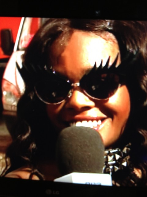 Azealia Banks at Hackney Weekend in Tatty Devine Eyelash Sunglasses