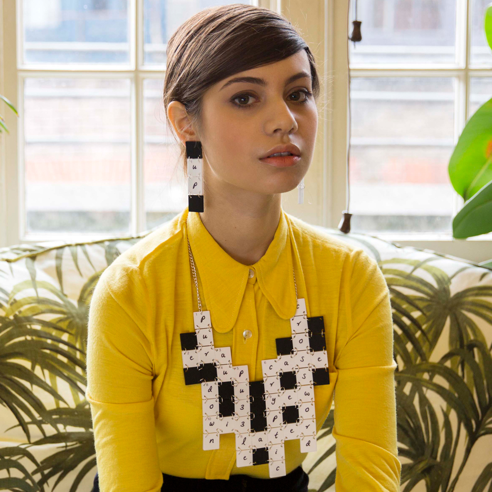 Crossword Puzzle Statement Necklace 2