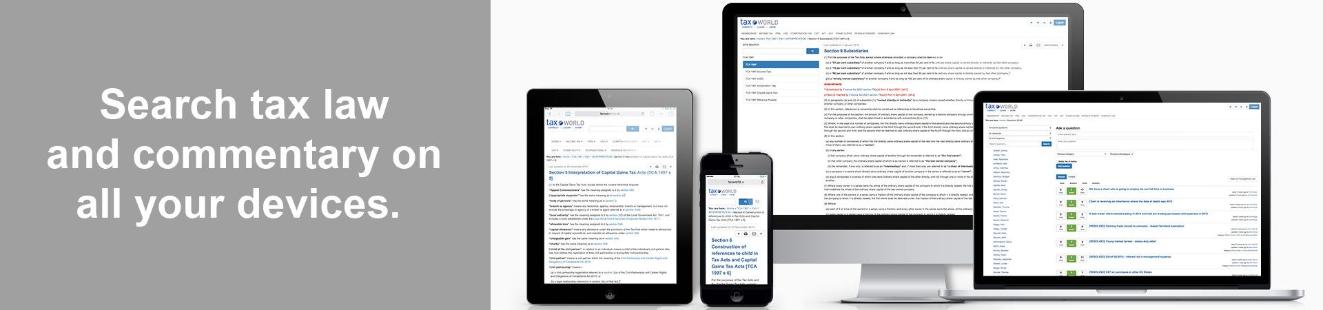Search the tax code and commentary on all your devices
