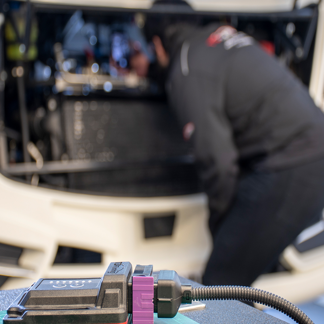 Chip tuning box on a motorhome