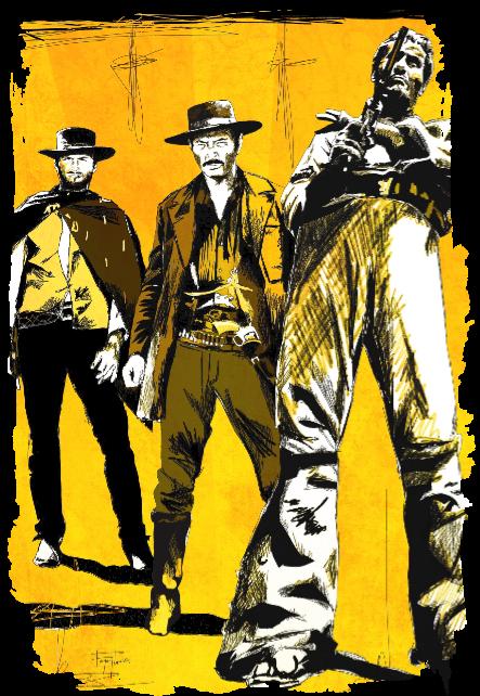 maglietta spaghetti western