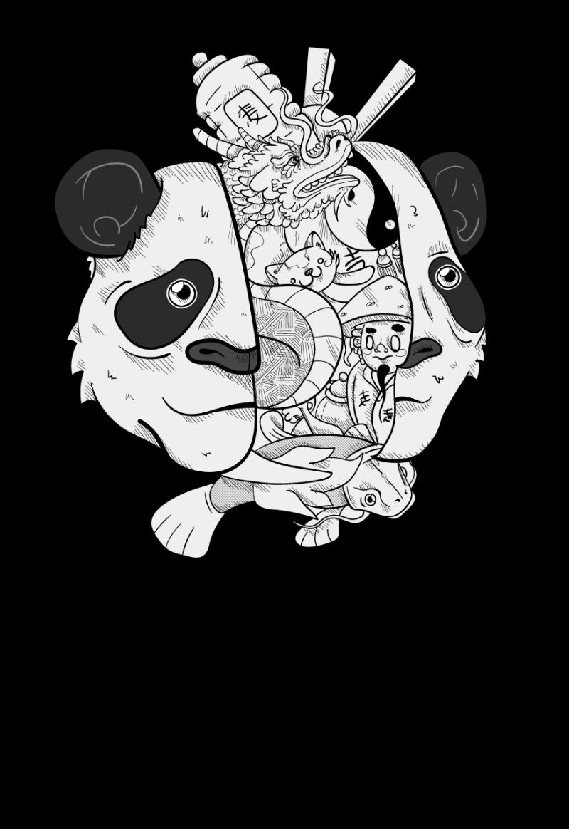 Maglietta personalizzata panda