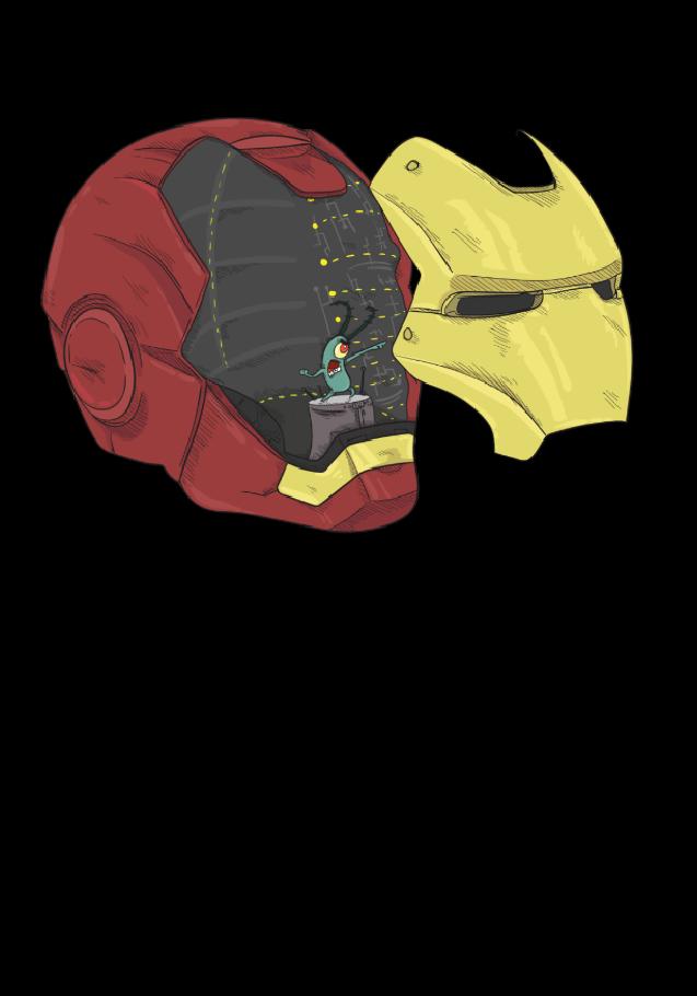 tshirt personalizzata ironman plankton