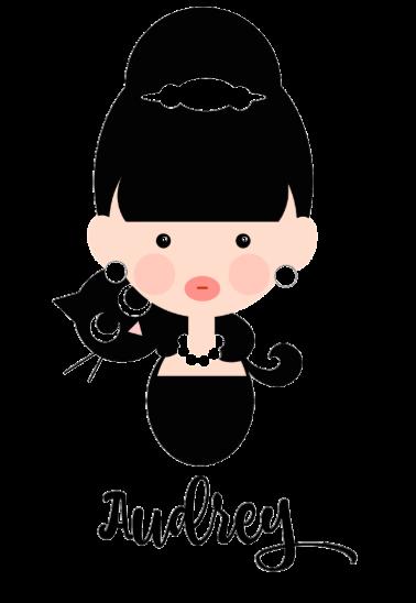 maglietta personalizzata audry hepburn doll