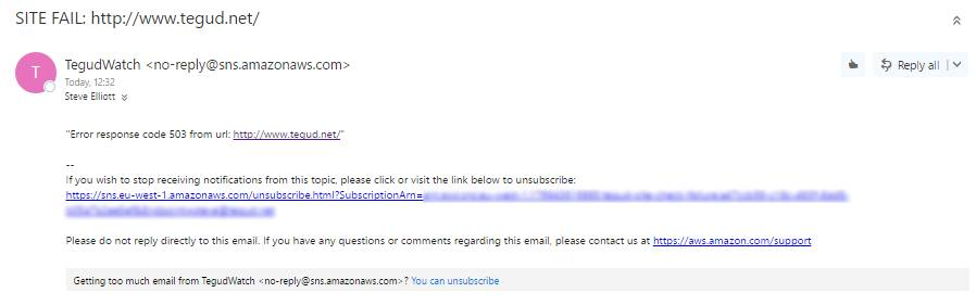 Site Fail Email