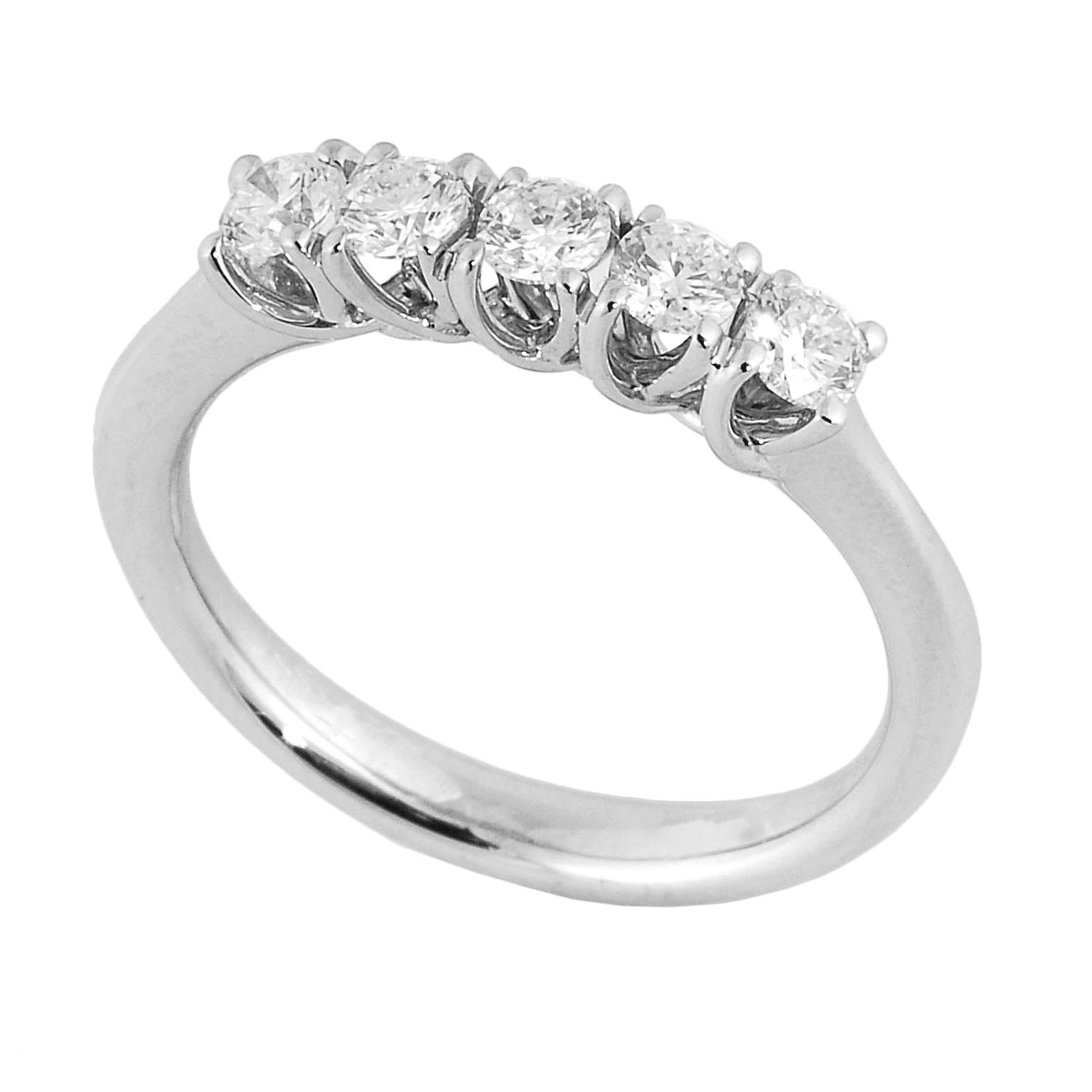 Los Angeles rapporto qualità-prezzo New York Anello riviera grace 5 diamanti | DiamondInvest