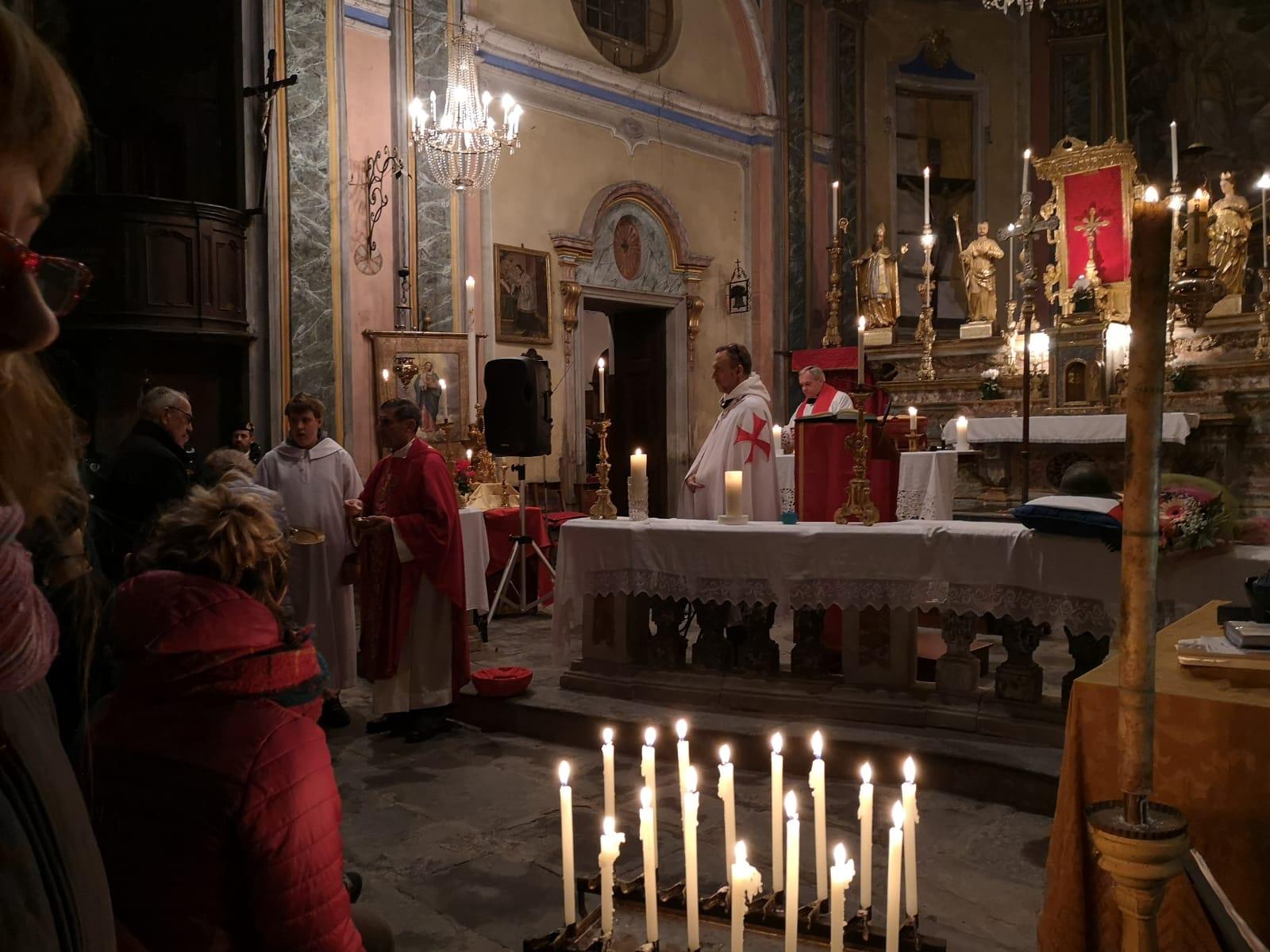 Santa Messa di San Saturnino patrono di Mocchie e celebrazione commemorazioni caduti delle guerre (2019)