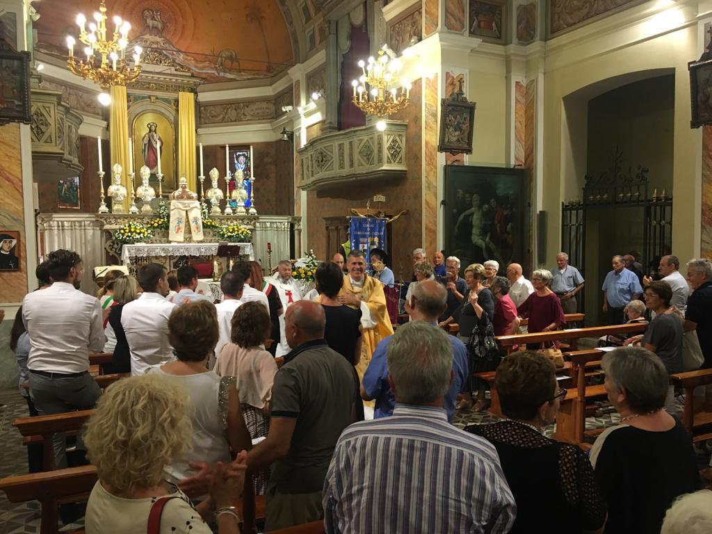 Santa Messa d'ingresso del nuovo parroco a Cizzago (Brescia)
