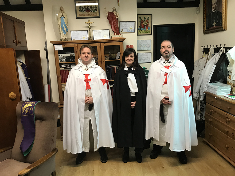 The Catholic Templars of United Kingdom attending at the Holy Mass in the Parish of Sacred Heart Church in Reading