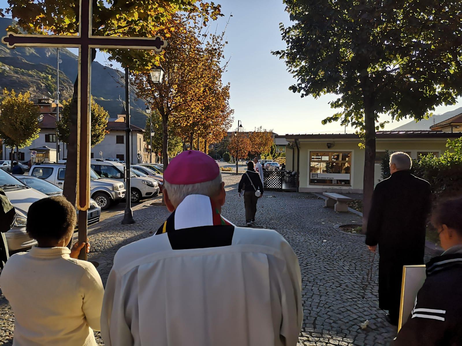 Processione in occasione del Rogazionaggio a SUSA (TO) con S.E. il Vescovo di Susa mons. Confalonieri
