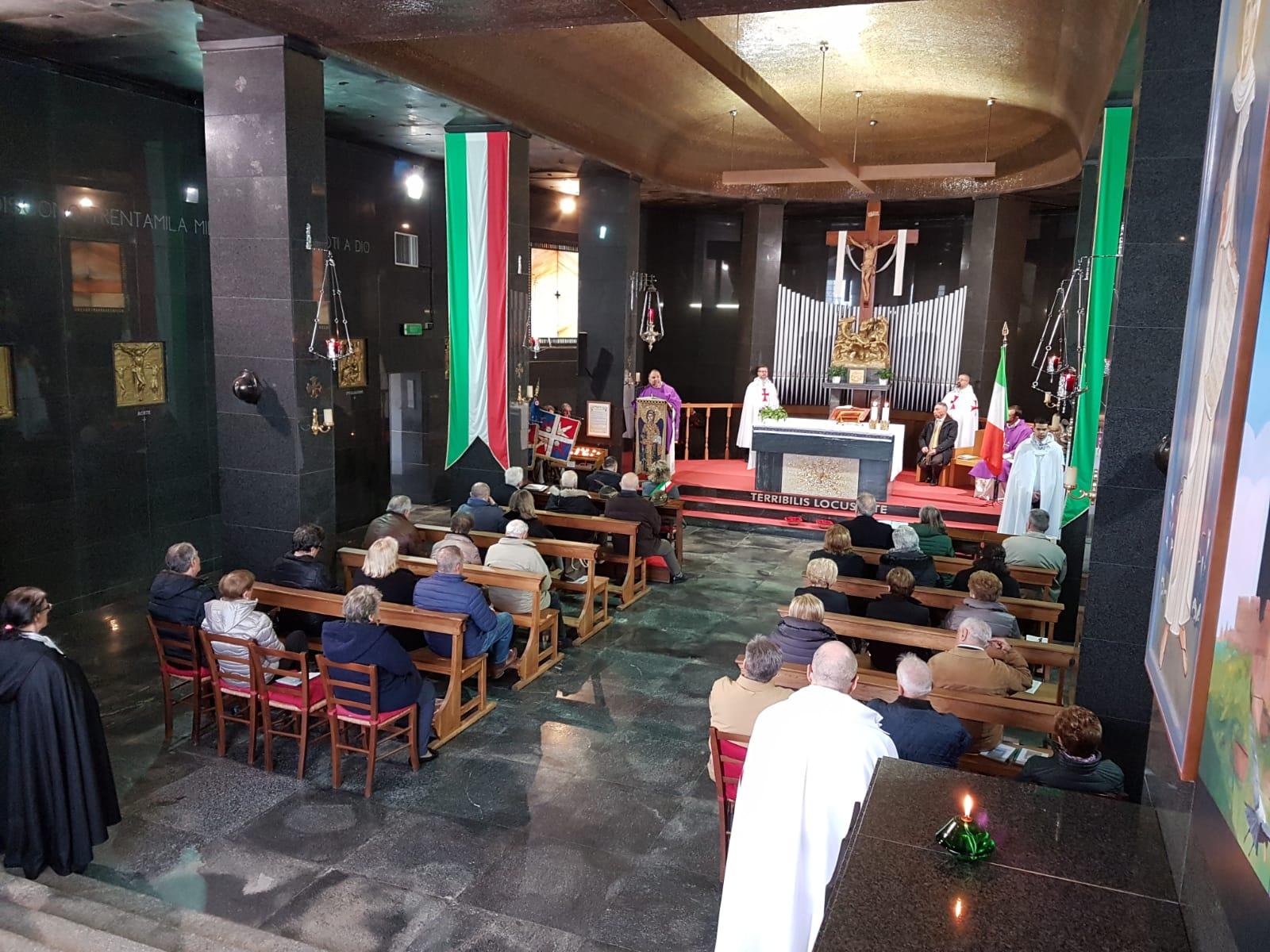 I Templari Cattolici d'Italia partecipano alla Celebrazione Eucaristica presso il Sacrario a Redipuglia in onore dei caduti della grande guerra.
