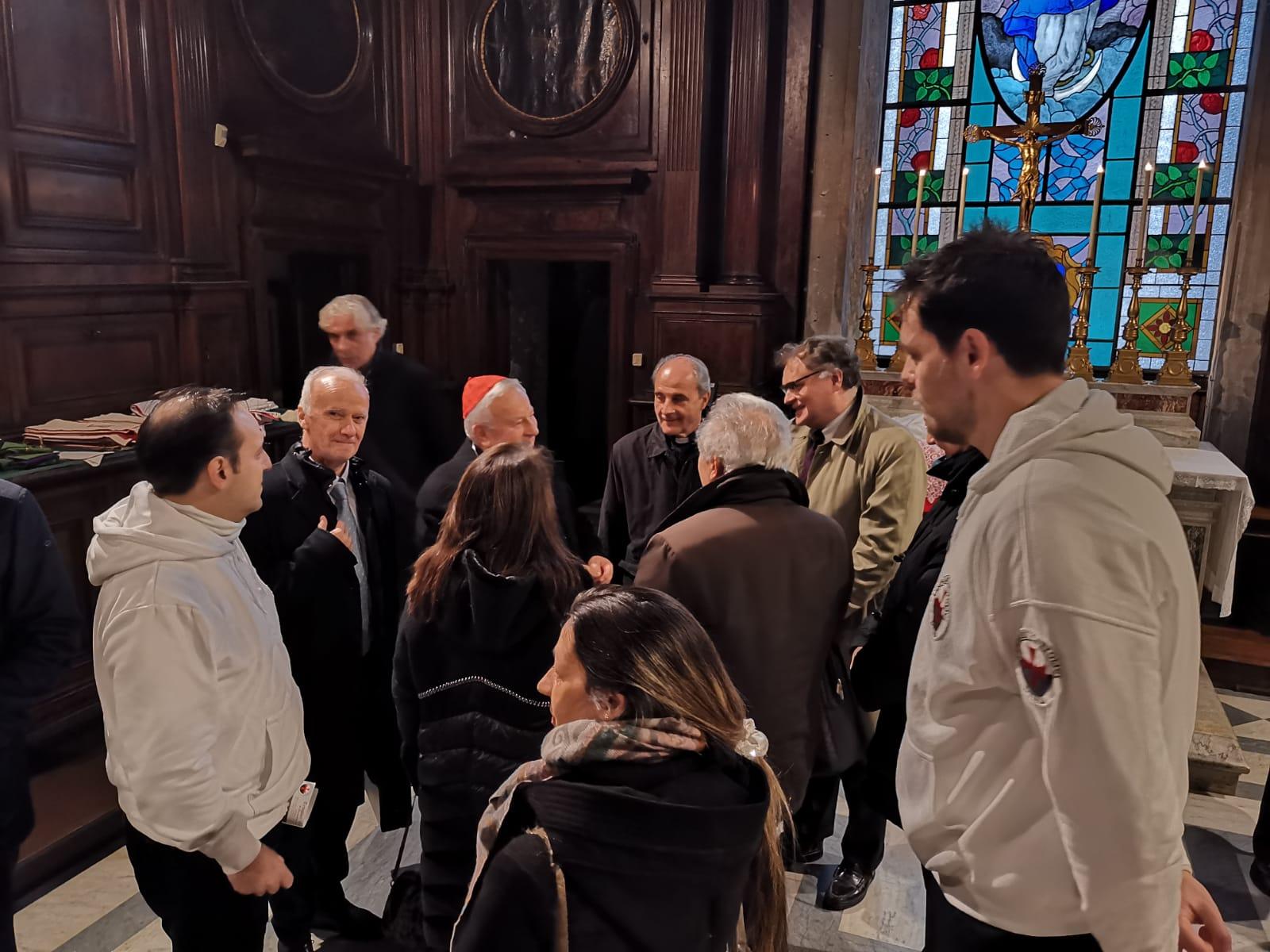 I Templari Cattolici d'Italia in occasione del centenario dall'Appello di Liberi e Forti di Don Luigi Sturzo partecipano alla Santa Messa celebrata da Sua Eminenza il Cardinale Gualtiero Bassetti nella Basilica dei Santi XII Apostoli.