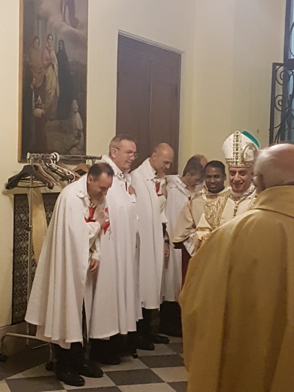 The Archbishop His Eminence Monsignor Fisichella presides the Solemnity of Saint John Leonardi at the Sanctuary of Santa Maria In Portico in Campitelli