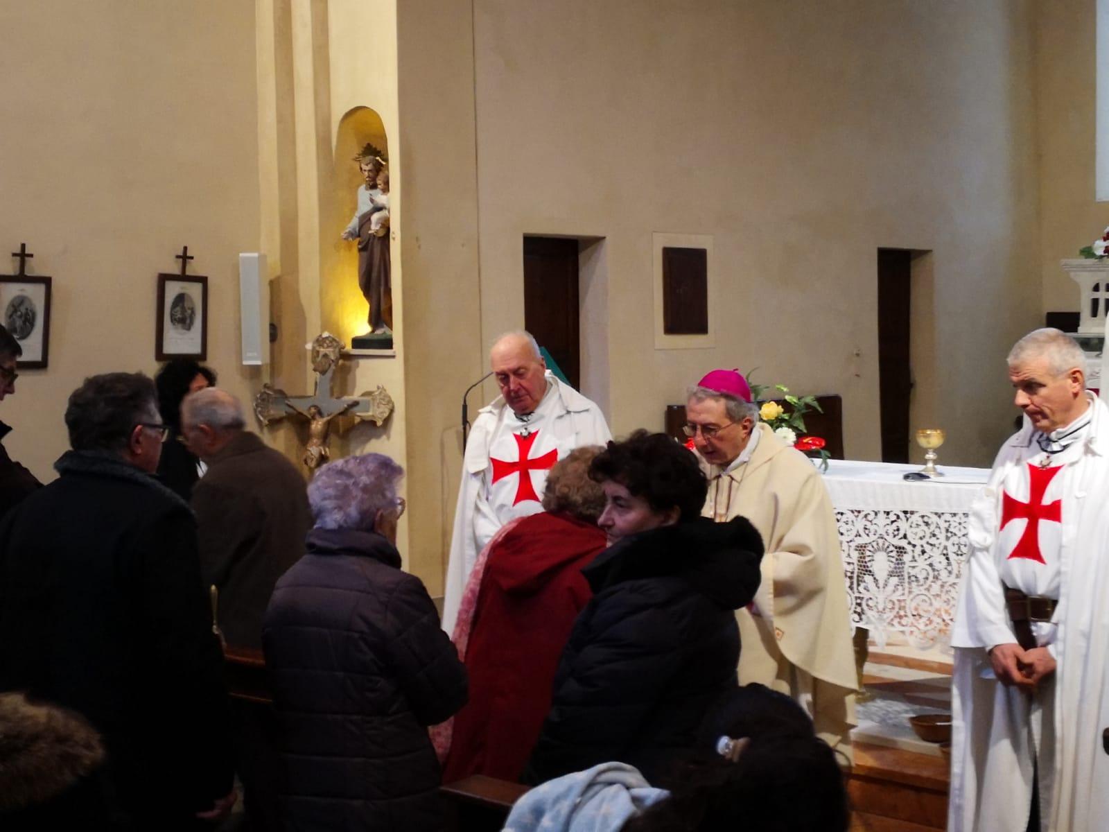 S. Messa Banzola (PR) 17/01/19 celebrata dal vescovo mons. Ovidio Vezzoli
