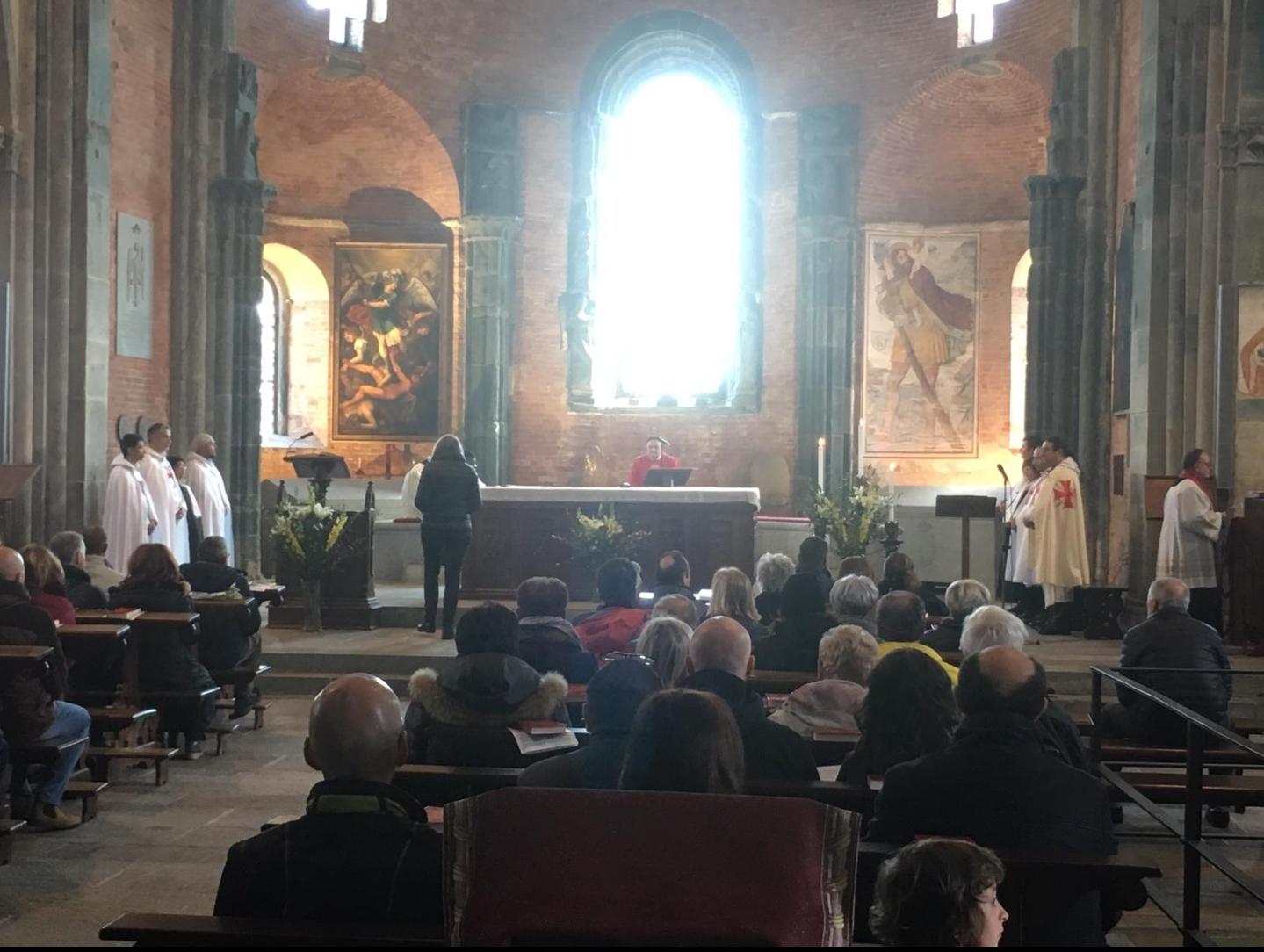 Santa Messa domenicale alla Sacra di S.Michele nel giorno delle Palme