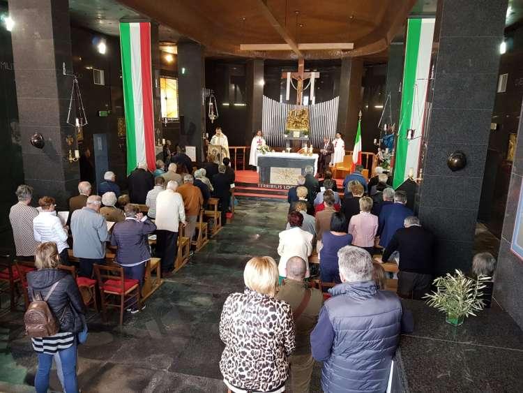 I Templari Cattolici d'Italia partecipano alla Solenne Celebrazione Eucaristica in occasione della Santa Pasqua presso il Sacrario Militare di Redipuglia. Non nobis Domine, non nobis sed nomini Tuo da gloriam.