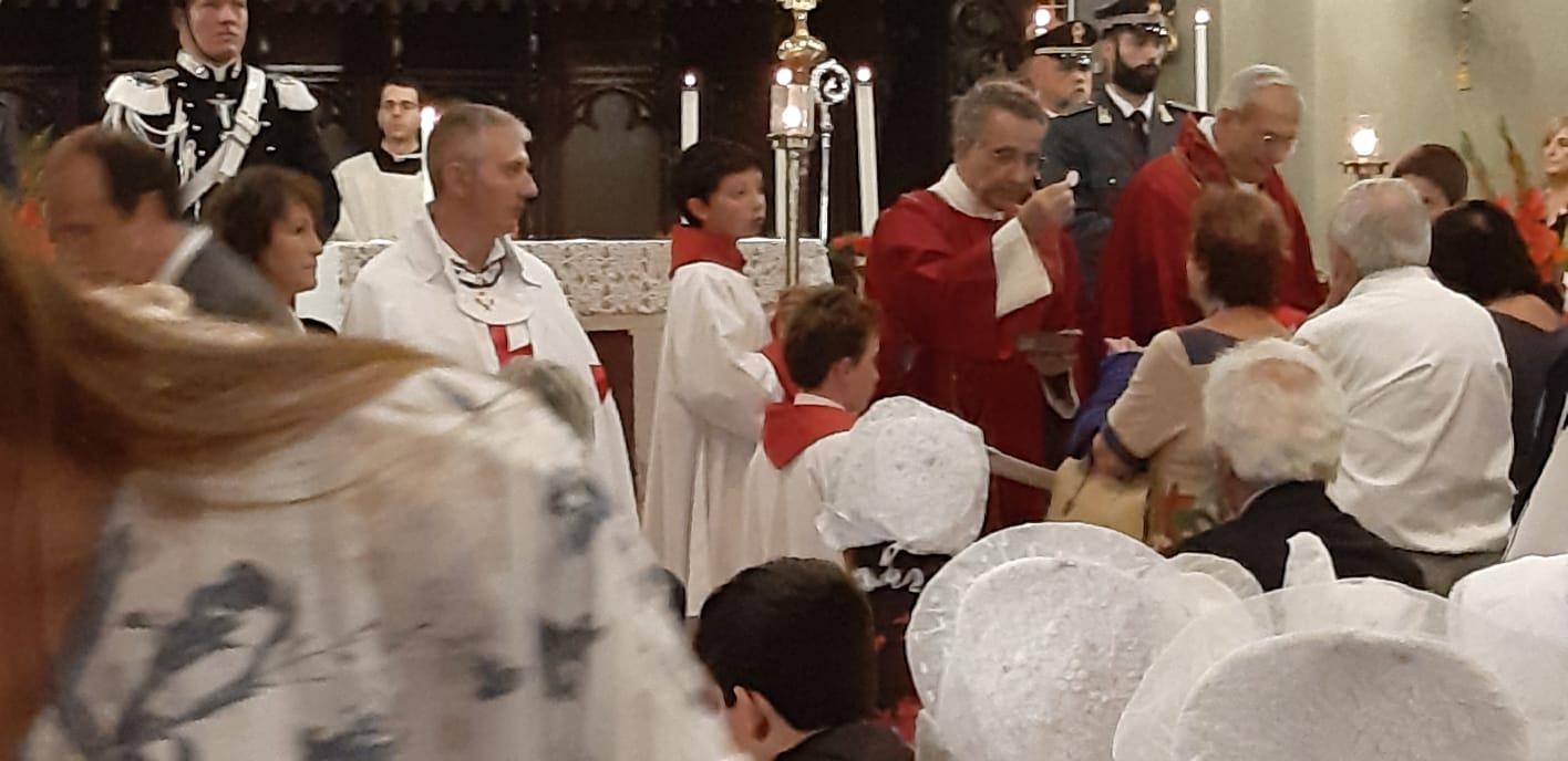 Santa Messa e Processione a San Ippolito patrono di Bardonecchia con S.E. il Vescovo di Susa Alfonso BADINI CONFALONIERI