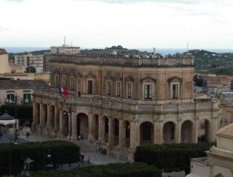 La Sicil Baroque - Vue du Theatre de Noto
