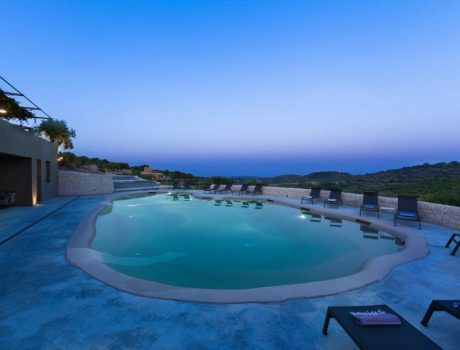 La Sicile Baroque - Villa Dorata Countryhouse - La Piscine la nuit