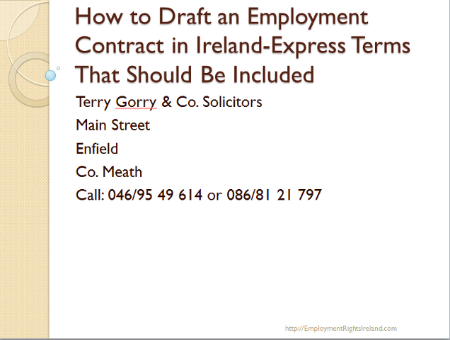 The employment contract in irish employment law the facts you should the employment contract in irish employment law the facts you should know employment rights ireland spiritdancerdesigns Choice Image