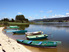 Barque sur le lac de Saint-Point