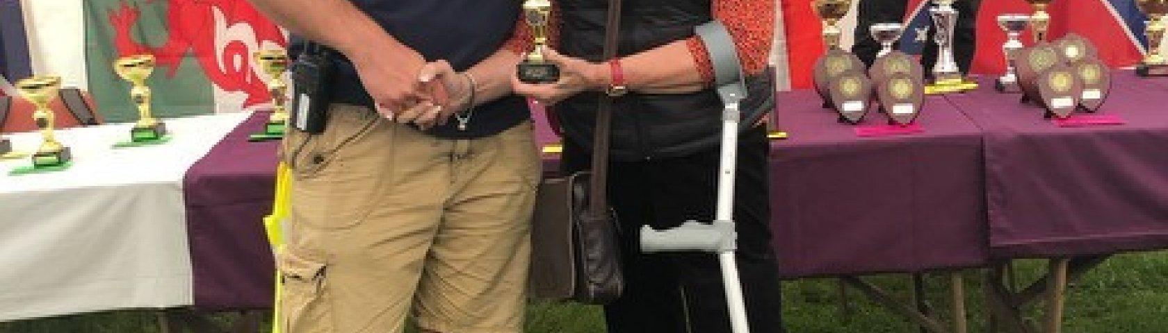 Best Jaguar Saloon Award Presented To Carol Ingram At Tatton Hall In August