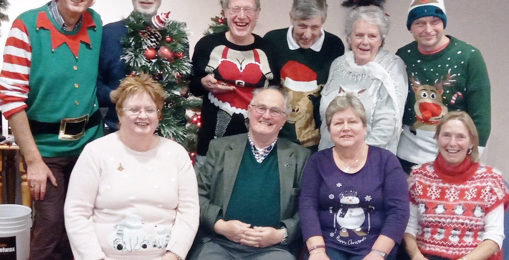 Crop 19 Solway Members In Christmas Spirit