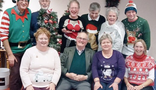 Crop 19 Solway Members In Christmas Spirit