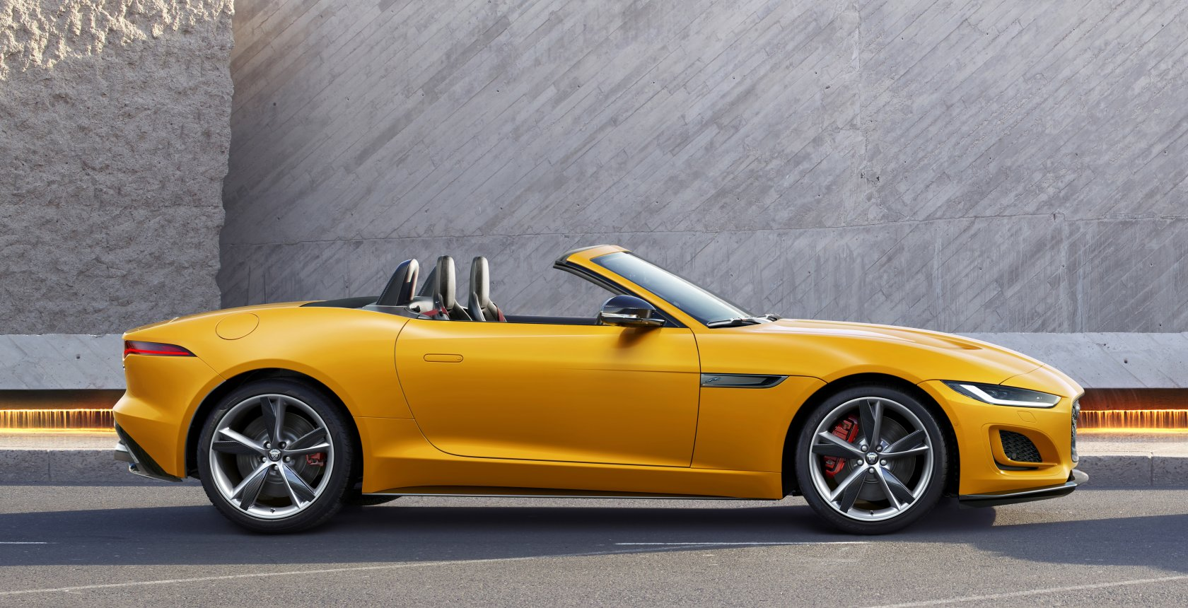 Jag F Type 21 My Reveal Image Lifestyle Convertible Sorrento Yellow 02 12 19