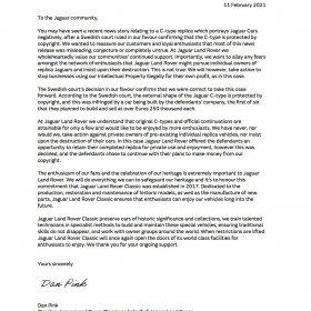 Open Letter To Jaguar Community 11 02