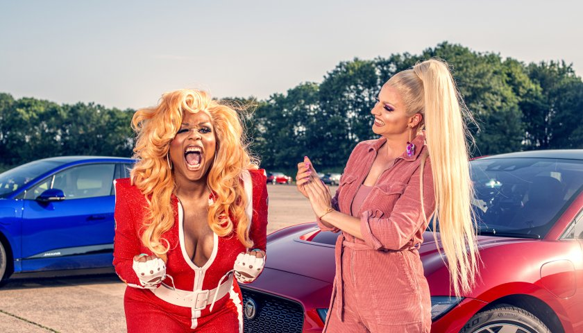 Peppermint Vs Courtney Act Jag Race Behind The Scenes Images 2