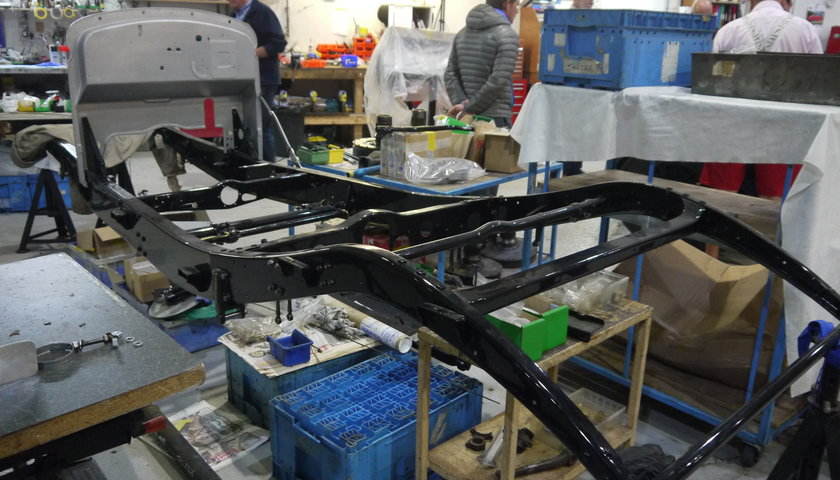 Rolls Royce Chassis At Start Of Rebuild Fiennes