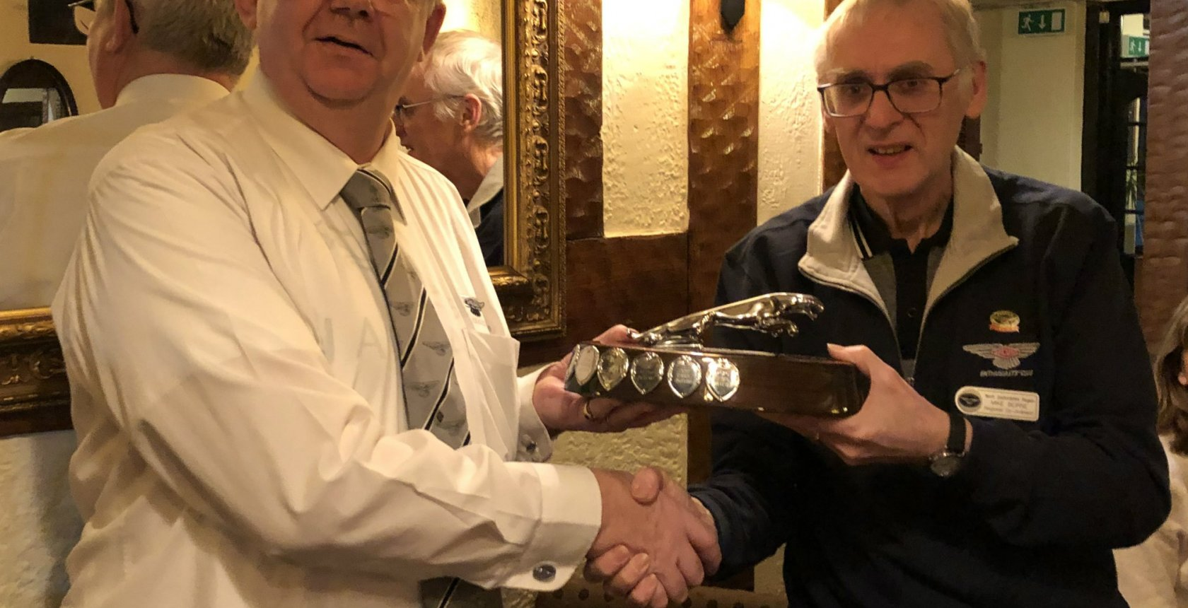 Geoff Taylor Left North Staffs Member Of The Year Presentation By Mike Beirne