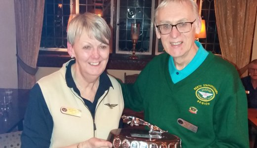 Staffordshire North Member Of The Year Award Presented To Carol Ingram By Mike Beirne